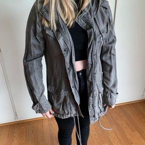 Lightweight Cotton Utility Jacket w/hood